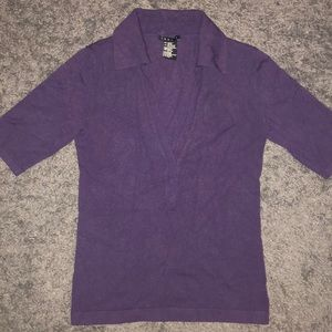 Theory brand 3/4 sleeve top dark plum color size p